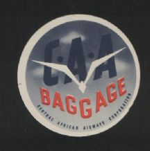 Airline label luggage labels central African air #033